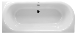 Acrylbadewanne oval 180x80, 195l, 3 Ecken, Links