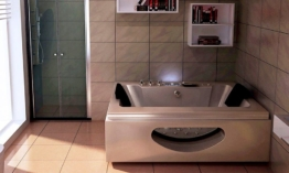 HOME DELUXE Whirlpoolwanne »Laguna M Champagner«, mit Thermostat